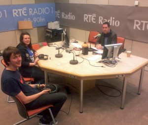 This is Pádraig in studio with Éadaoin Nic Giolla Bhríghde in Sept 2011. Cormac Ó hEadhra is presenter.
